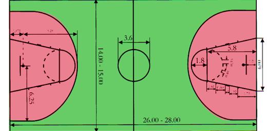 Разметка баскетбольной